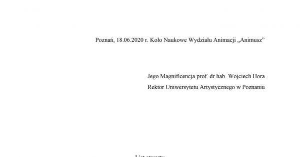 NIE dla niesłusznego zwolnienia profesora Macieja Ćwieka!