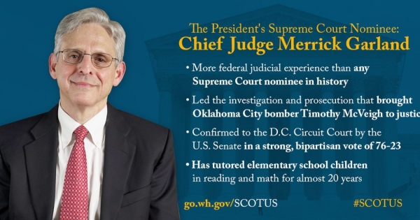 To the american Senate: give Judge Garland a fair hearing
