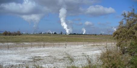 Quitar la contaminación de la Geotermica del Valle de Mexicali, Baja California. Mexico.