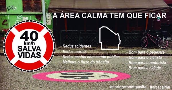 Prefeitura Municipal de Curitiba: Manutenção do limite de 40 km/h na Área Calma em Curitiba