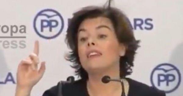 solicito a Soraya que ejerza su máxima responsabilidad política y dimita de todos sus cargos