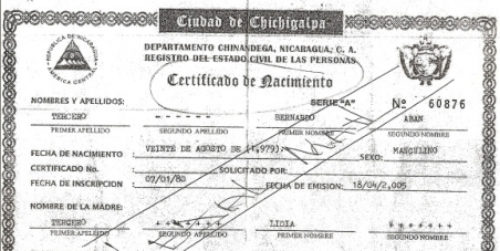 Recognition of the legality of Bernardo Aban Tercero's birth certificate, and his ineligibilty for the death penalty