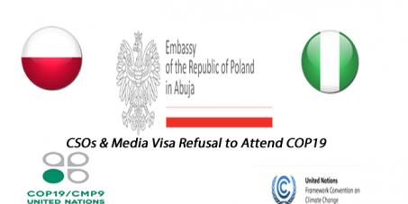 Polish Embassy Nigeria: Stop Indiscriminate Visa Refusal of Duly Accredited UNFCCC CSOs and Media Participants!