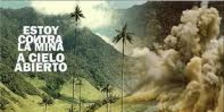 No a la mina La Colosa en Cajamarca Colombia