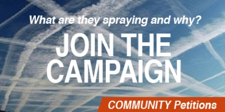 The Prime Minister David Cameron: Explain what is being sprayed in our skies and why