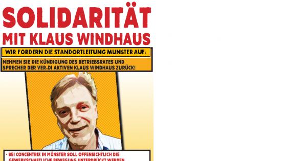 Solidarität mit Klaus Windhaus