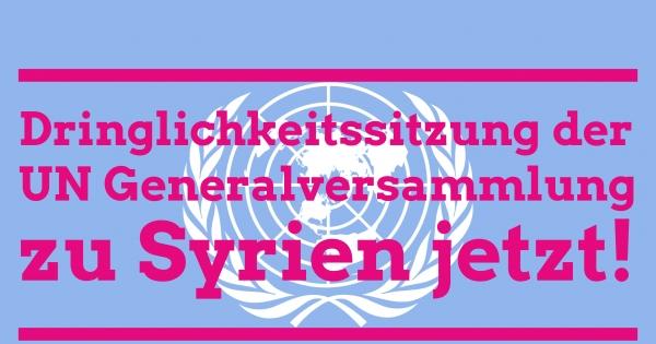 Bundesregierung und Außenminister Steinmeier: Wir fordern Sie auf, eine Dringlichkeitssitzung der UN zu beantragen.
