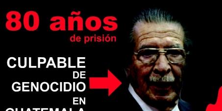 Exdictador de Guatemala quien cometio Genocidio esta apunto de recibir amnistia (perdon) Ayudanos a hacer justicia