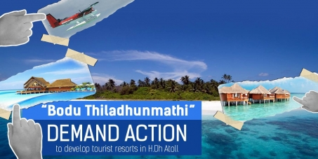 Petition to urge the government to develop tourist resorts in H.Dh Atoll