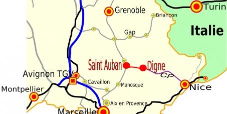 Réactivation de la ligne ferroviaire Digne - Val de Durance