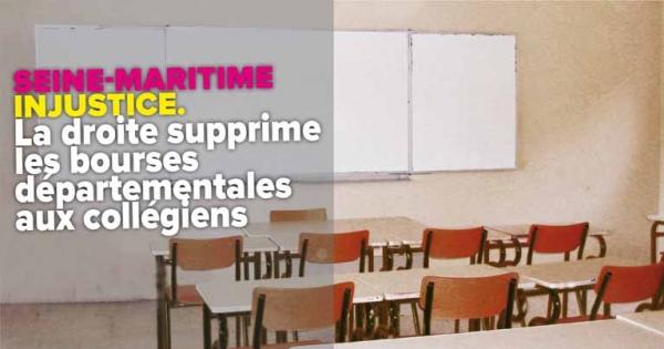 Président du Département de Seine-Maritime: Non à la suppression des bourses départementales aux collégiens