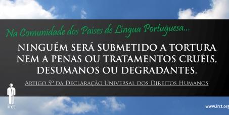 Apoio à ratificação da Convenção contra a Tortura por Angola, Guiné-Bissau e São Tomé e Príncipe