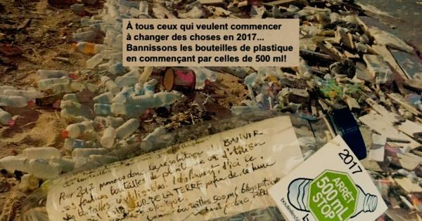 Éliminons les bouteilles d'eau de 500 ml des édifices gouvernementaux du Québec (fédéral, provincial et municipaux)