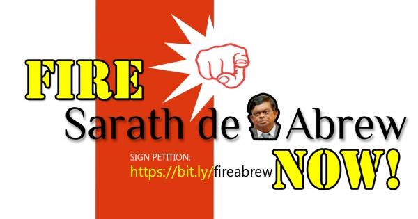 Prosecute and Fire Judge Sarath de Abrew NOW