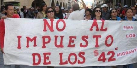 LEY DE HERENCIAS y 4x4, IMPUESTOS CONTRA MIGRANTES ECUATORIANOS. FIRMA