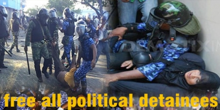 Restore Democracy in Maldives, Release Political Detainees, Elections Now