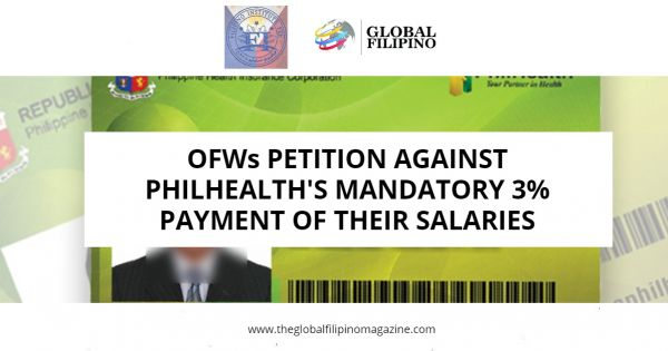 Petition to remove mandatory 3% Premium Payment from OFWs salaries