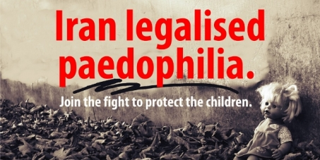 An end to legalised paedophilia and child rape in Iran