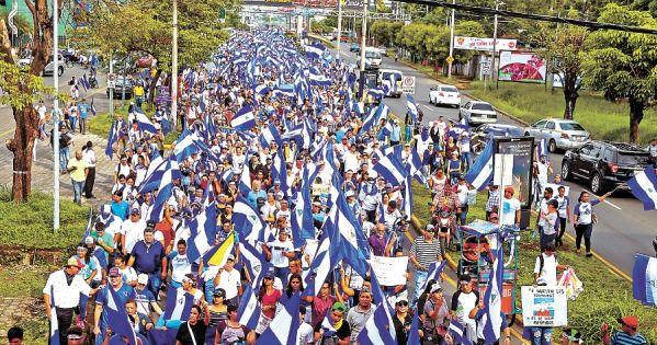 ¡Por una Nicaragua libre y en Democracia!