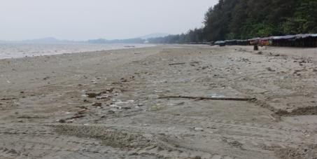 Beach cleaner for Laem Mae Phim Beach, Thailand