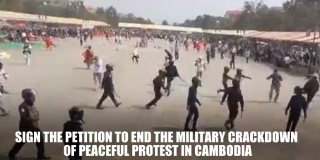 Prime Minister Hun Sen: Protect right to peaceful protest and end military crackdown in Cambodia