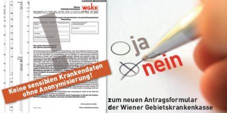 Wiener Landesverband für Psychotherapie fordert: NEIN zum neuen Krankenkassen-formular für Psychotherapie