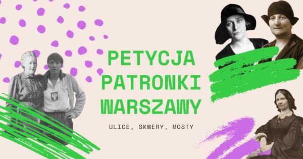 Więcej kobiecych nazw ulic w Warszawie