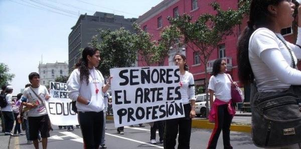 Congreso de la República del Perú: Defendamos el rango universitario de las escuelas de arte de Lima