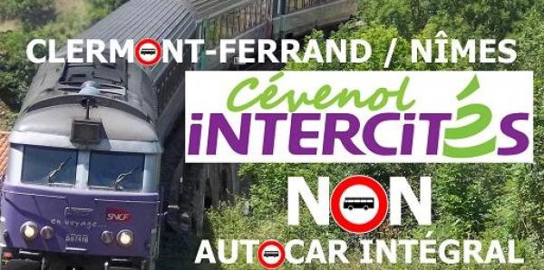 SNCF: Non au transfert sur route de l'Intercités Cévenol Clermont-Fd / Nîmes