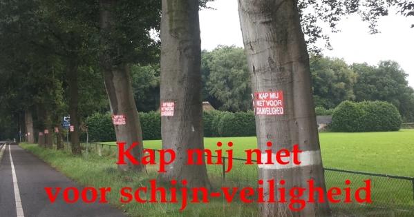 Stop kap en Red Bomen langs N wegen