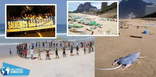 Governador do RJ - Luiz F. Pezão: Saneamento da Praia de São Conrado! #salvemossaoconrado #poluicaonaoenormal