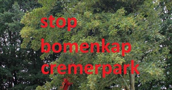 BOMENKAP CREMERPARK ENECO TEKENEN STOP DIT