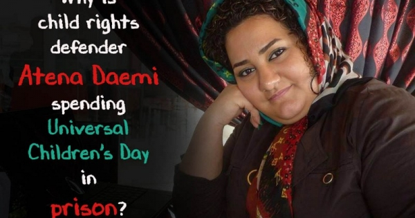 President Hassan Rouhani, Islamic Republic of Iran: Free Child Rights Defenders Atena Daemi & Saeed Shirzad