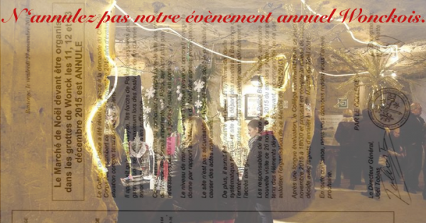 Au Collège communal de Bassenge : Wonck - Nous demandons à ne pas annuler la 20e édition du Marché de Noël 2015