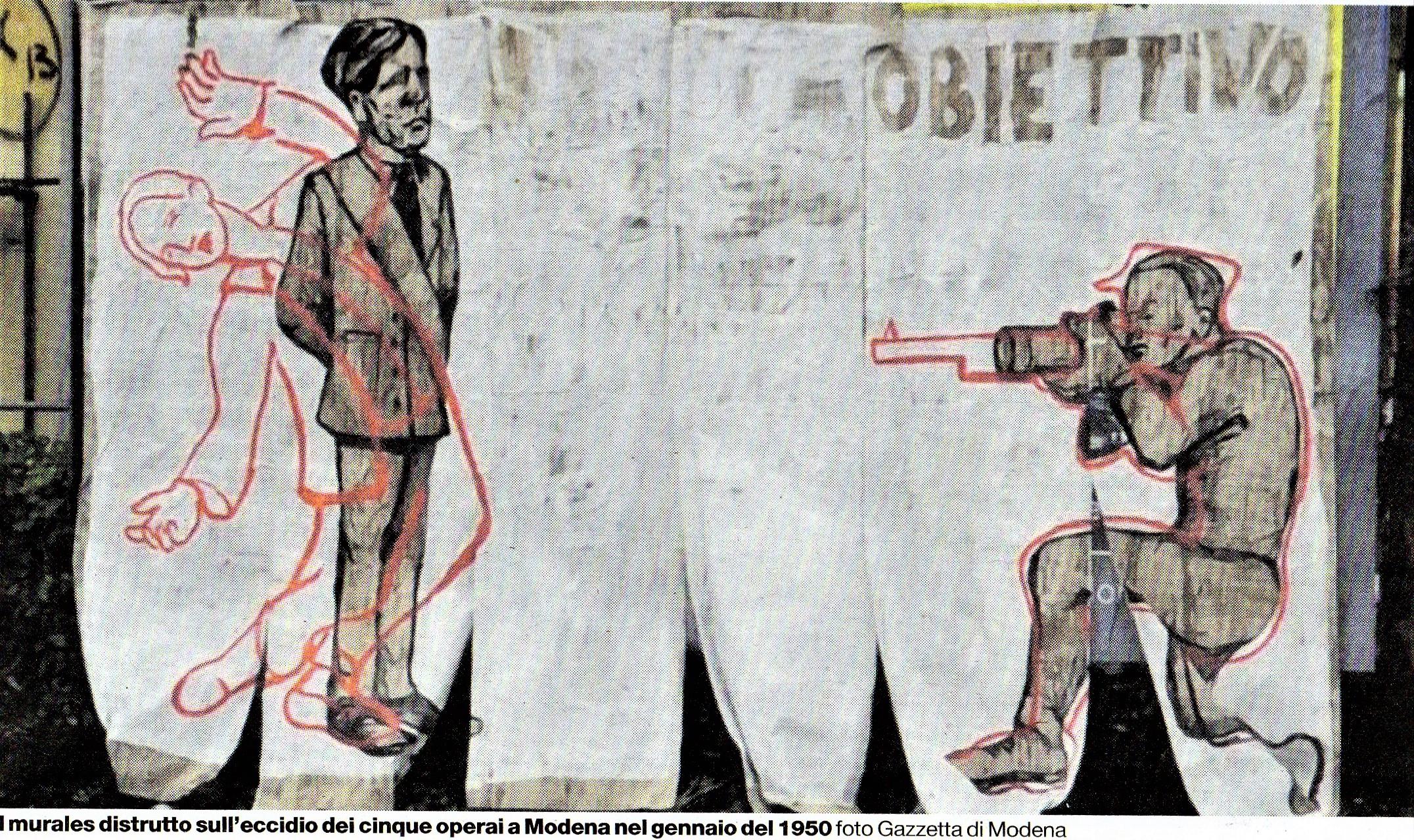 Il Sindaco e il Consiglio Comunale devono autorizzare: Un muro dipinto per i sei operai uccisi il 9 gennaio 1950