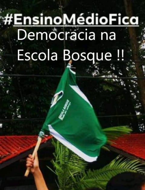 Trabalhadores em educação, estudantes, comunidade escolar e organizações sociais: EM DEFESA DA DEMOCRACIA NA ESCOLA BOSQUE - BELÉM-PA