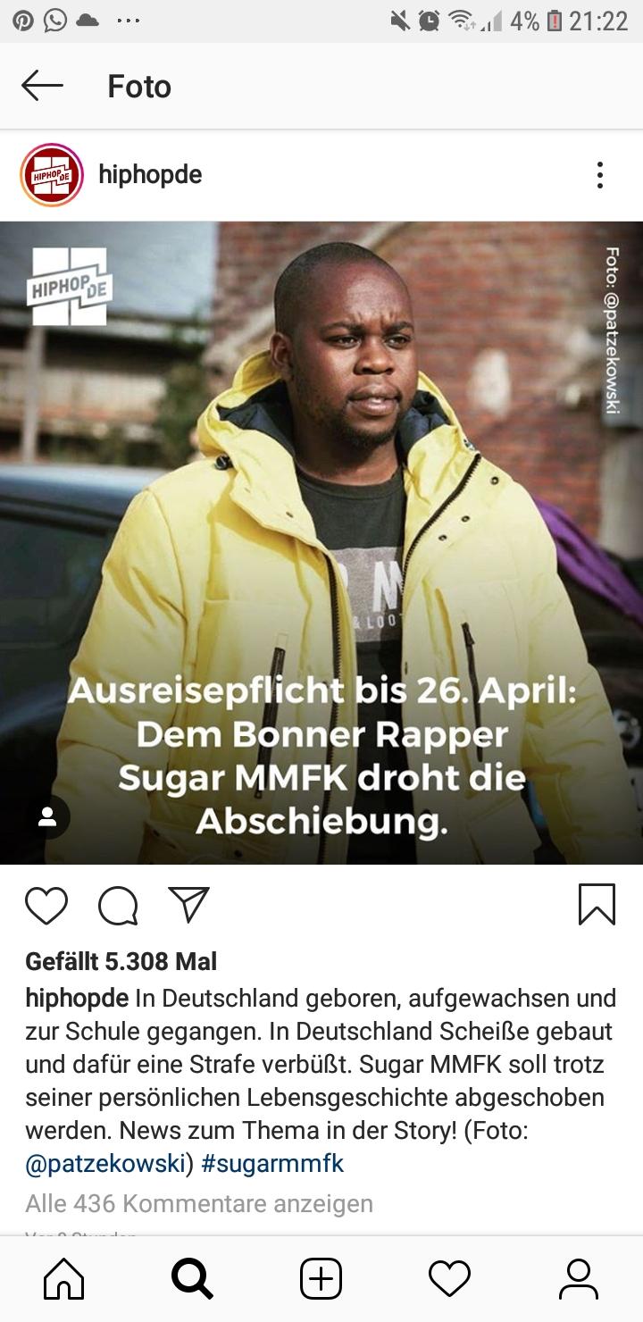 Wir wollen die Abschiebung von dem hier geborenen Rapper Sugarmmfk verhindern!!!