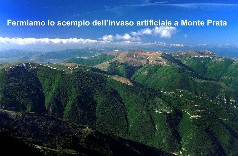 Fermiamo lo scempio dell'invaso artificiale a Monte Prata (Marche)