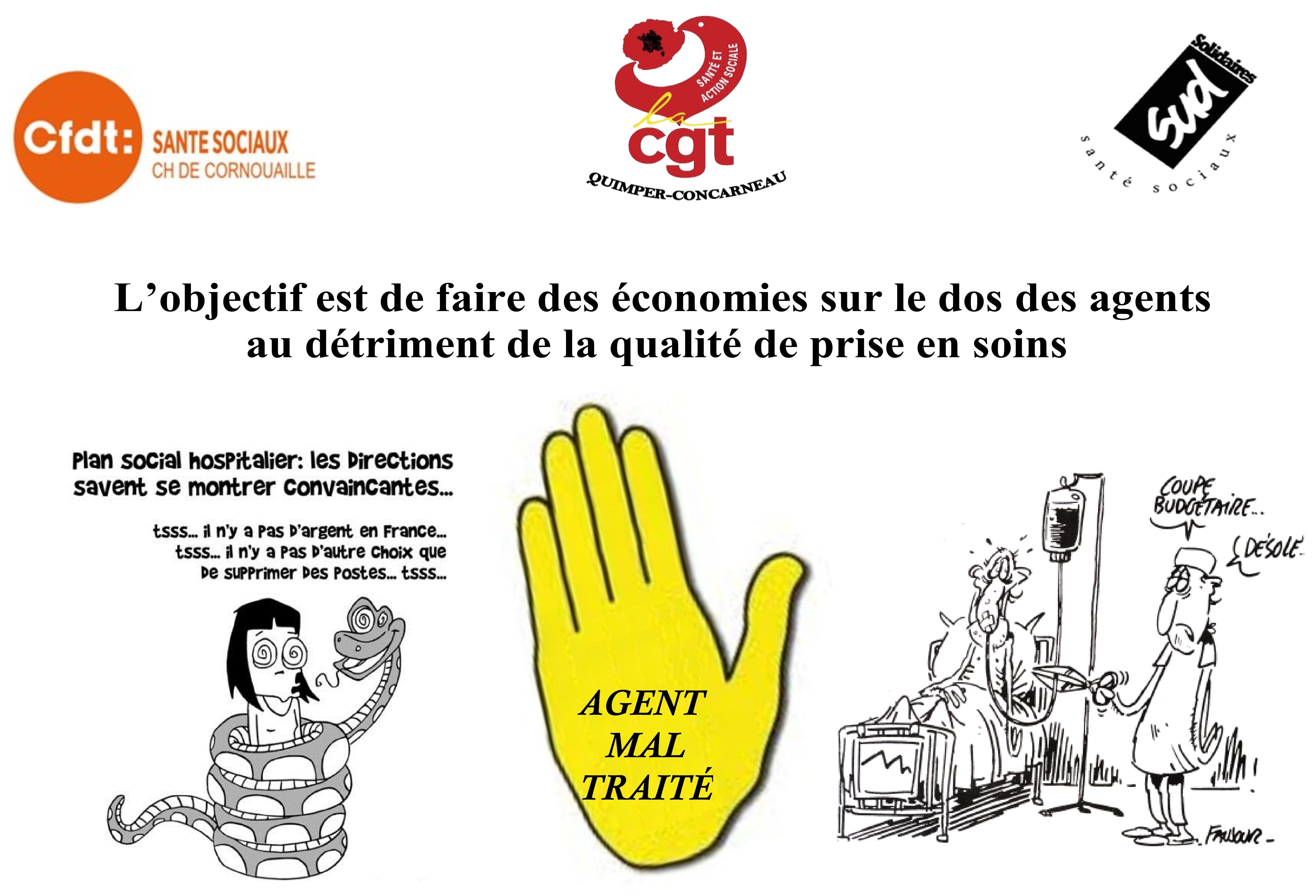 REFUS du Plan d'Économie au  Centre Hospitalier de Cornouaille !!