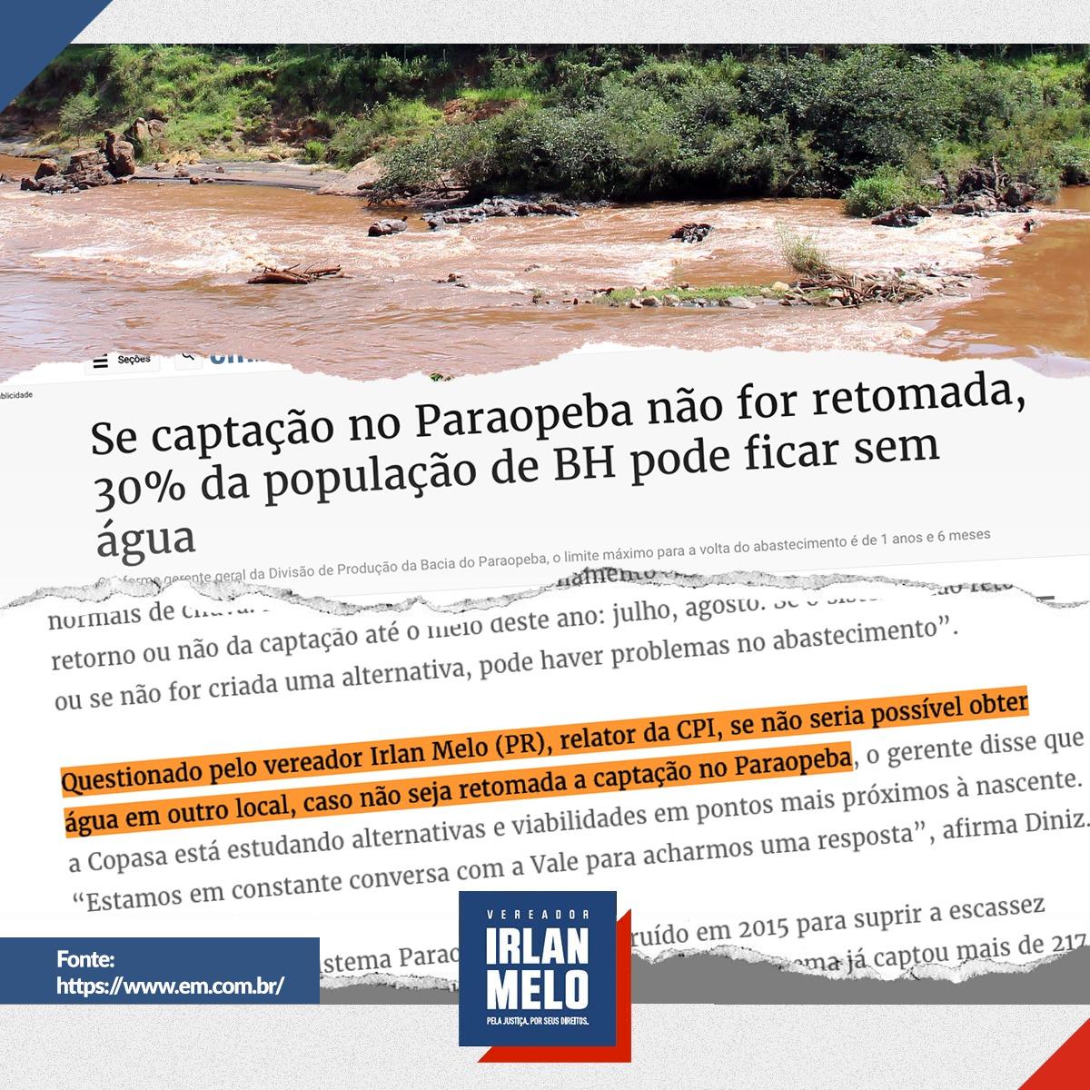 Belo Horizonte vai ficar sem Água