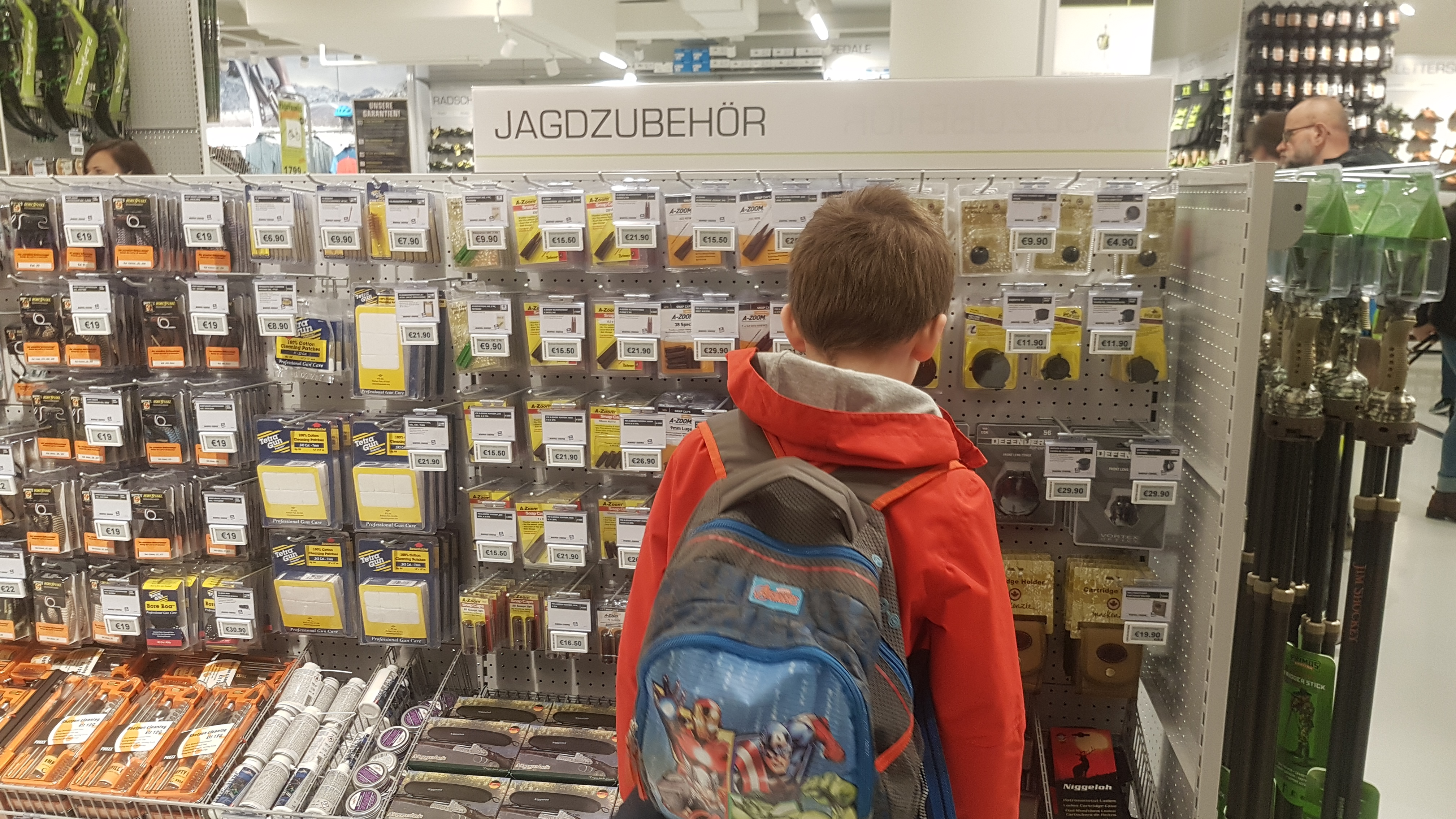 Keine Waffen im Kaufhaus!