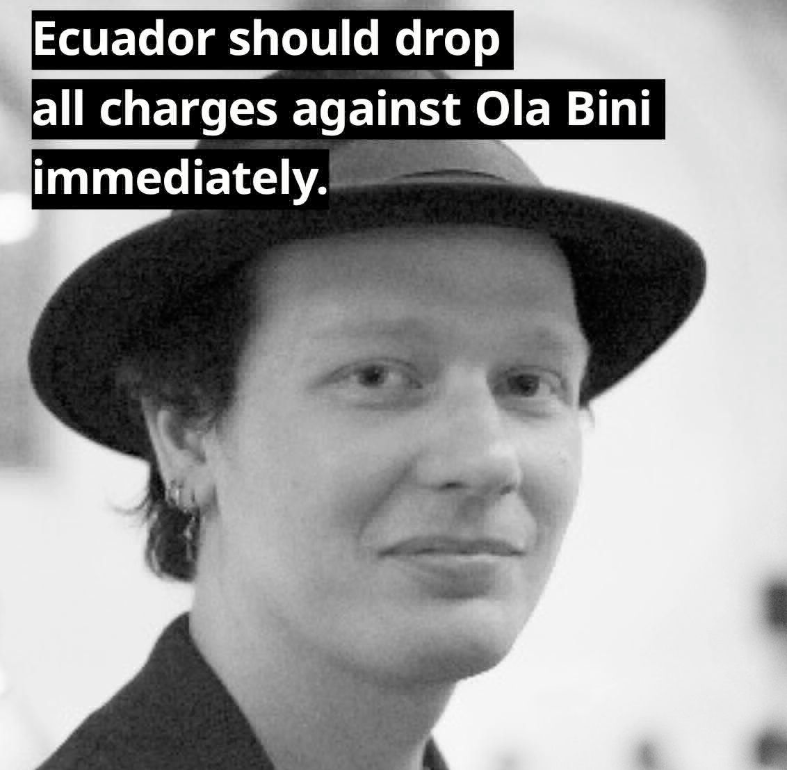 Digital rights defender Ola Bini has been imprisoned in Ecuador. #FreeOlaBini