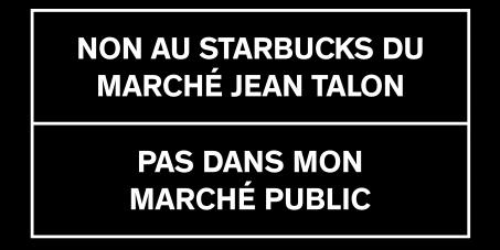 Contrer l'ouverture d'un StarBucks Coffee au Marché Jean-Talon